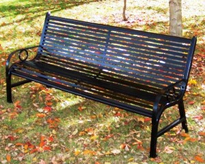 5-Foot Broadway Memorial Park Bench from OCC Outdoors.
