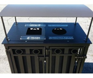 36-Gallon Dual Bin Recycling Receptacle from OCC Outdoors