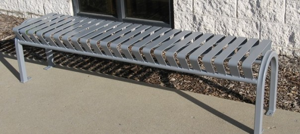 Steel Backless Bench from OCC Outdoors
