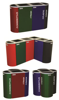 Modular Recycling Bins from OCCOUtdoors