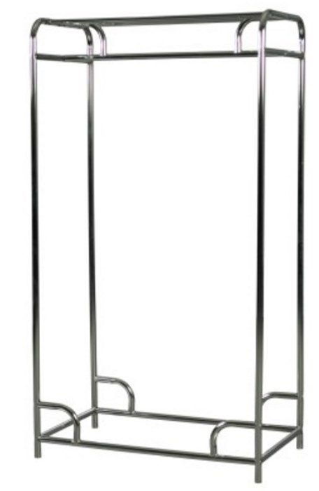 Steel/Chrome Single Bar Garment Rack from OCCOutdoors