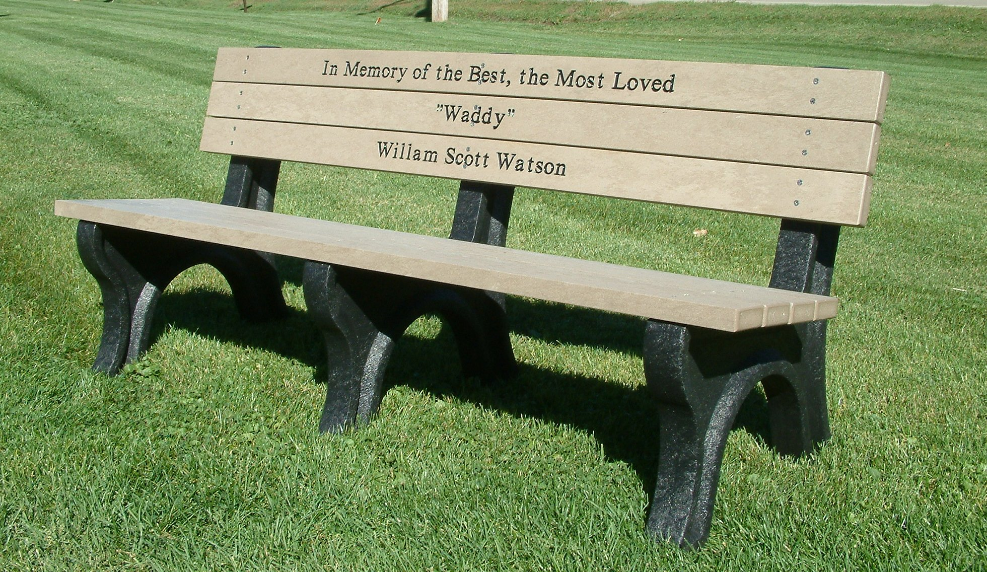 Memorial Park Bench from OCC Outdoors