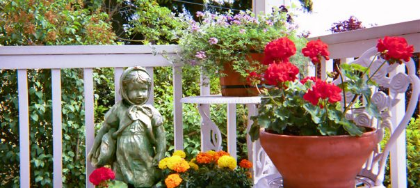 Self-wAtering Planter on a porch, courtesy of Wikipedia
