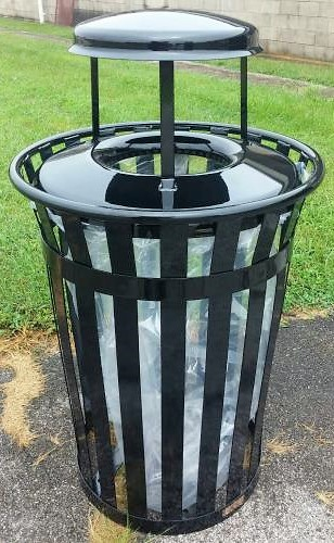 36-Gallon Main Street Clear View Trash Receptacle