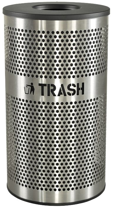 Stainless Steel Trash Receptacles