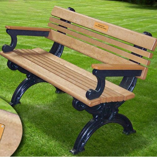 Recycled Plastic Park Benches