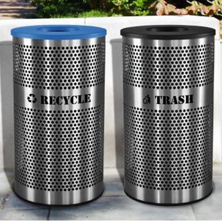 Stainless Steel Recycling Receptacles