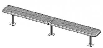 """Deluxe 10 Foot Heavy Duty Backless Park Bench With 15"""" Seat"""