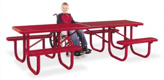 Picnic table 8-ft. extra Heavy Duty ADA Double End with Recycled Plastic Top & Seats