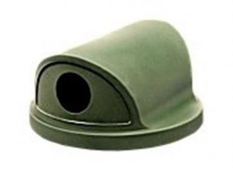 """Trash Receptacle Replacement Dual 5"""" Diameter Opening Dome Top"""