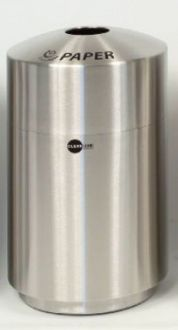 20-Gallon Stainless Steel Top Load Paper Recycle Bin