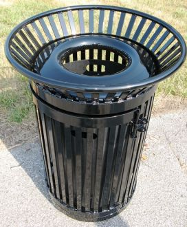 36-Gallon Colonial Trash Receptacle with Side Access