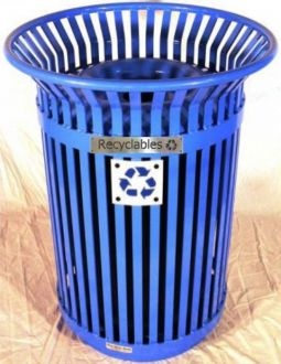36-Gallon Colonial Side Access Recycle Bin