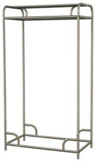 "Garment Rack Single or Double Bar Garment Rack, Steel, Chrome, 36"" Wide"