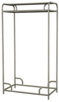 "Garment Rack Single or Double Sided Garment Rack, Steel, Chrome Finish, 48"" Wide"