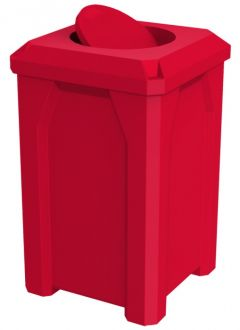 32-Gallon Square Trash Receptacle with Bug Barrier Top
