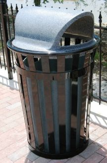 36-Gallon Main Street Trash Receptacle with Open Dome Lid