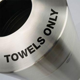 39-Gallon Stainless Steel Top Load Towel Bin