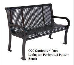 4 foot park bench Lexington Thermoplastic Finish Bench