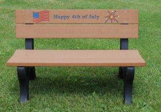4 Foot 4th of July Holiday Bench