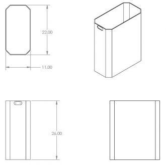 52 Gallon Square Half Replacement Liner