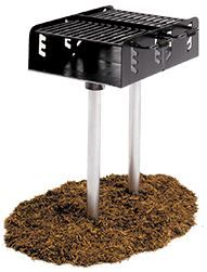 Dual Grate Surface Mount Family Size Pedestal Park Grill