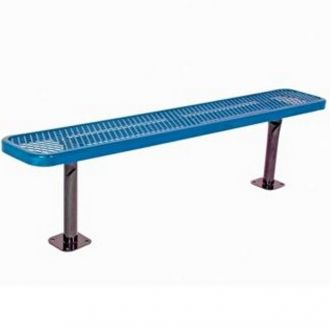 """Deluxe 8 Foot Backless Heavy Duty Park Bench With 15"""" Seat Plank"""