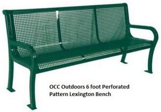 Park Bench 6' Lexington Thermoplastic Finish