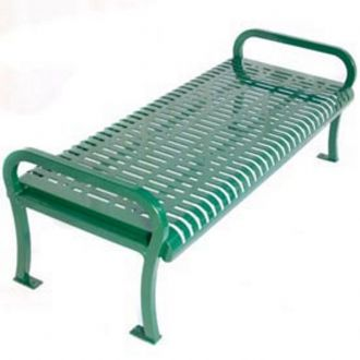 Backless 6 foot Lexington park bench with Thermoplastic Finish