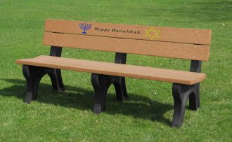 6 Foot Hannukkah Holiday Bench