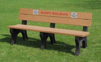 6 Foot Happy Holiday Bench