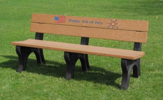 6 Foot Fourth of July Holiday Bench