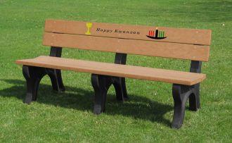 6 Foot Kwanzaa Holiday Bench