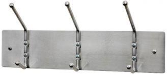 "Garment Rack, Steel and Satin Aluminum, 18"""