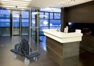 Chrome Bellman's Cart, 1000+ lbs. Capacity