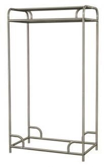 Garment Rack Single or Double Sided Chrome Plated Steel Garment Rack, 60 Inches Wide,