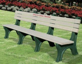 8 Foot Park Classic Memorial Bench