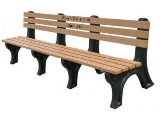 8 Foot EconoMizer Plastic Memorial Park Bench