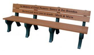 8 Foot Traditional Memorial Park Bench