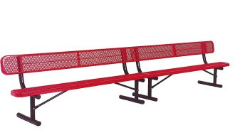 15 Foot Heavy Duty Park Bench Thermoplastic coated and 12 inch wide Seat