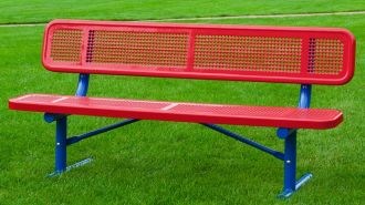 """8 Foot Heavy Duty Park Bench With 12"""" Seat Plank and Back"""