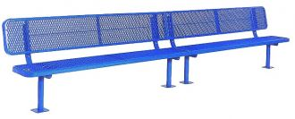 15 Foot Deluxe Heavy DutyThermoplastic Coated Park Bench with 15 inch wide Seat Plank