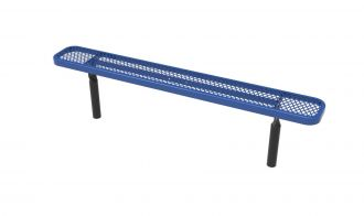 """10 Foot Heavy Duty Backless Park Bench With 12"""" Seat"""