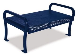 4 foot Lexington backless park bench with Thermoplastic Finish