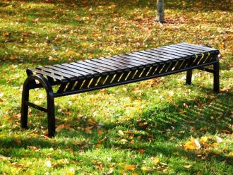 4 Foot Backless Bus Stop Bench, Heavy Duty