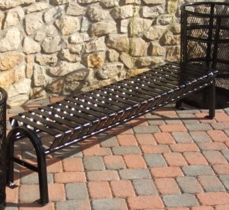 4 Foot Backless Bus Stop Bench