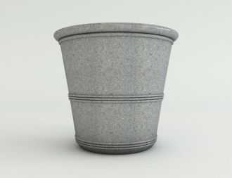 "Granite Color Barrel Vase Planters 21"""