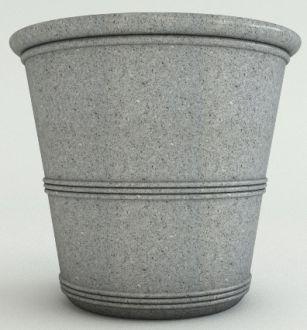 "Granite Color Barrel Vase Planters 28"""