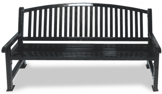 Savannah Series Bow Back Steel Park Bench with Thermoplastic Finish.