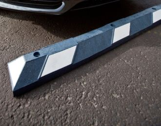 Parking Curbs 6 foot Blue and White with Anchors